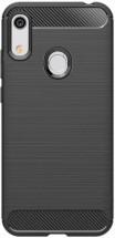 Zadní kryt pro Honor 8A/Huawei Y6S, karbon, černá