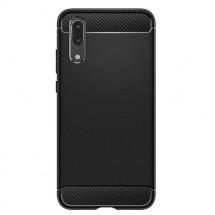Zadní kryt pro Huawei P20, karbon, černá