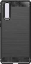 Zadní kryt pro Huawei P30, karbon, černá