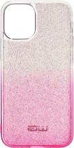 Zadní kryt pro iPhone 12/12 Pro, Rainbow, růžovo/stříbrná