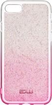 Zadní kryt pro iPhone 7/8/SE (2020), Rainbow, růžovo/stříbrná