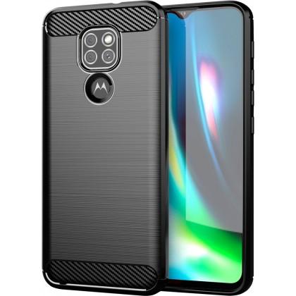 Zadní kryt pro Motorola Moto G9 Play, Carbon, černá