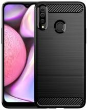 Zadní kryt pro Samsung Galaxy A20s, Carbon, černá ROZBALENO