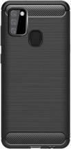 Zadní kryt pro Samsung Galaxy A21s, Carbon, černá