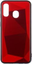 Zadní kryt pro Samsung Galaxy A40, 3D prismatic, červená