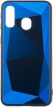 Zadní kryt pro Samsung Galaxy A40, 3D prismatic, modrá