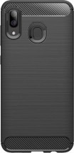 Zadní kryt pro Samsung Galaxy A40, karbon, černá