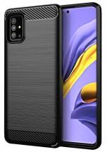 Zadní kryt pro Samsung Galaxy A51, Carbon, černá