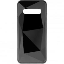 Zadní kryt pro Samsung Galaxy S10, 3D prismatic, černá