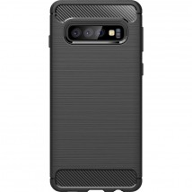 Zadní kryt pro Samsung Galaxy S10, karbon, černá ROZBALENO