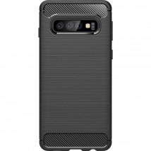 Zadní kryt pro Samsung Galaxy S10 Plus, karbon, černá
