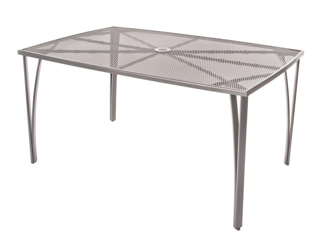 Zahradní stůl Ocelový zahradní stůl 150x90 cm (šedá)