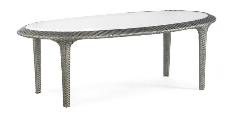 Zahradní stůl Sullivan Island - Jídelní stůl (stříbrná)