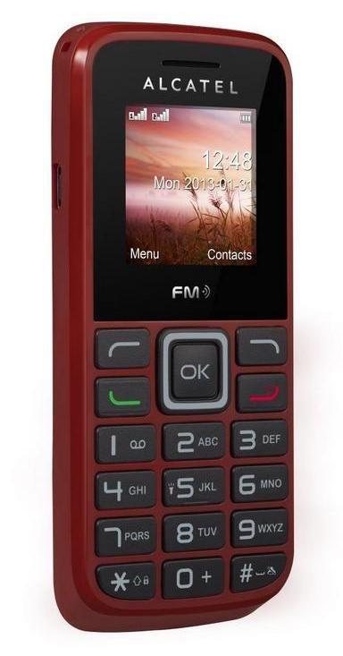 Základní telefon Alcatel One Touch 1010D Deep Red