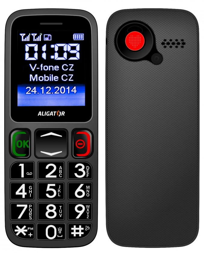 Základní telefon Aligator A320 Senior šedo-černý