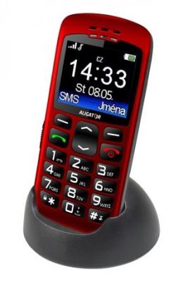 Základní telefon Aligator A670 Senior, červená