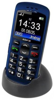 Základní telefon ALIGATOR A670 Senior, modrý