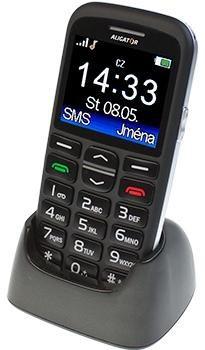 Základní telefon Aligator A680, černá
