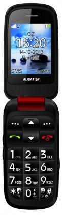 Základní telefon Aligator V550 Senior Red Black + stolní nabíječka