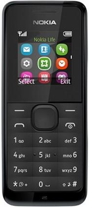 Základní telefon Nokia 105, černá
