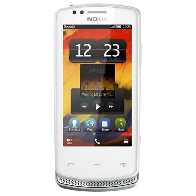 Základní telefon Nokia 700 Silver/White