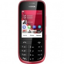 Základní telefon Nokia Asha 202 Red ROZBALENO