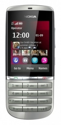 Základní telefon Nokia Asha 300 White Silver