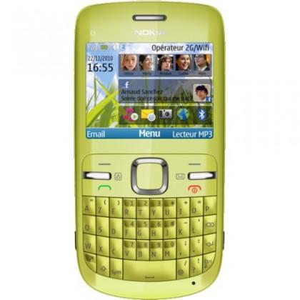 Základní telefon Nokia C3-00 Lime Green