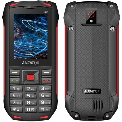 Základní telefon Odolný tlačítkový telefon Aligator R40 eXtremo, černo-červená