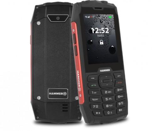 Základní telefon Odolný tlačítkový telefon myPhone Hammer 4, červená