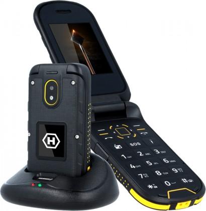Základní telefon Odolný tlačítkový telefon myPhone Hammer BOW PLUS,černá/oranžová