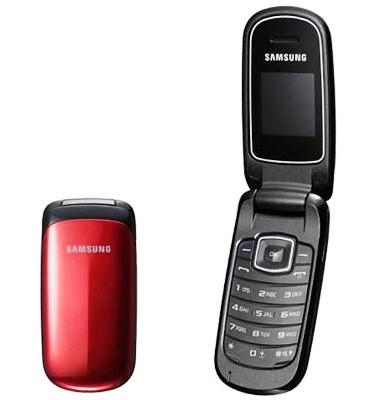 Základní telefon Samsung E1150, červený