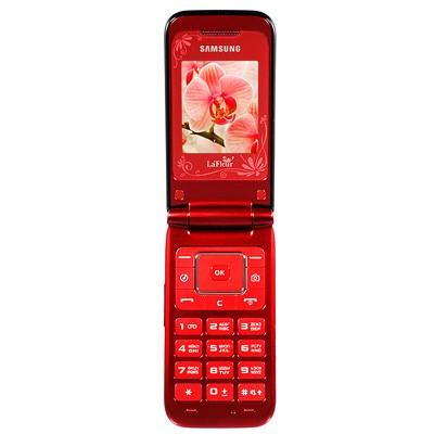 Základní telefon Samsung E2530, červený