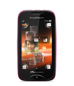 Základní telefon Sony Ericsson Walkman Mix WT13 Pink on Black