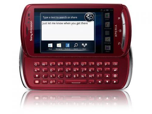 Základní telefon Sony Ericsson Xperia Pro Red