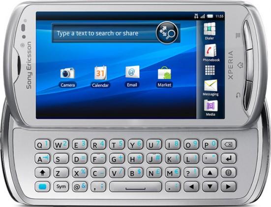 Základní telefon Sony Ericsson Xperia Pro Silver