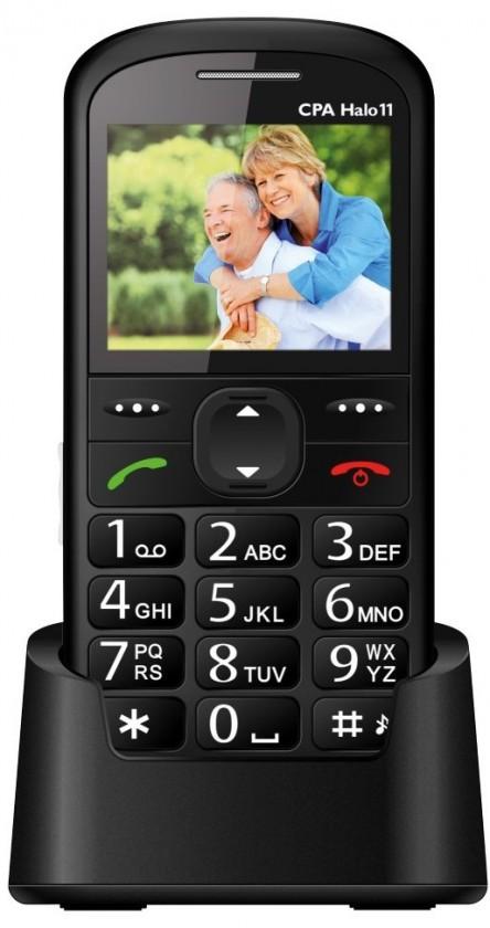 Základní telefon Telefon pro seniory CPA HALO 11, černá