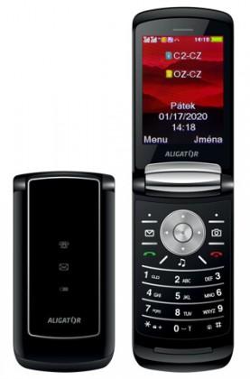 Základní telefon Tlačítkový telefon Aligator DV800, černá