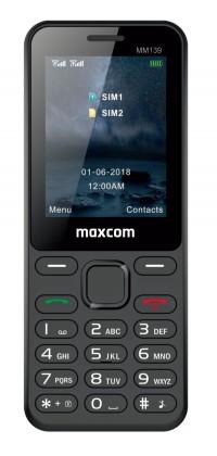 Základní telefon Tlačítkový telefon Maxcom Classic MM139 Banana, černá
