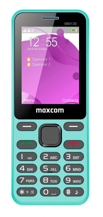 Základní telefon Tlačítkový telefon Maxcom Classic MM139 Banana, modrá