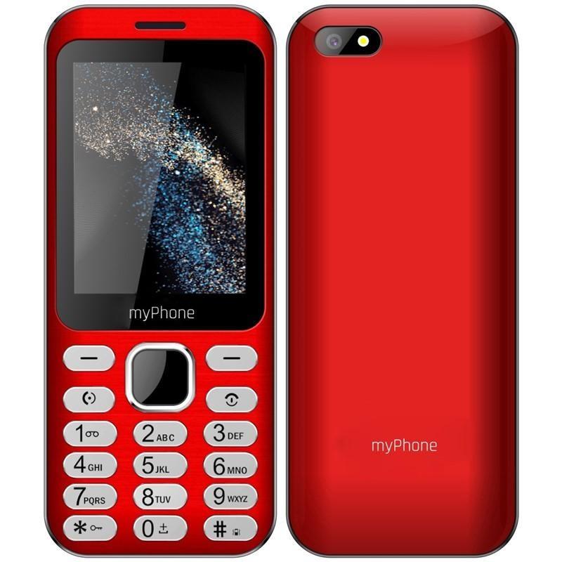 Základní telefon Tlačítkový telefon myPhone Maestro, červená