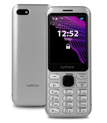 Základní telefon Tlačítkový telefon myPhone Maestro Prestige, stříbrná