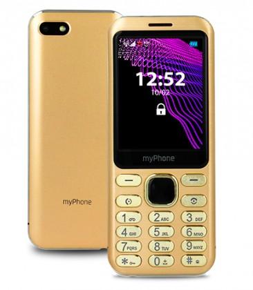 Základní telefon Tlačítkový telefon myPhone Maestro, zlatá