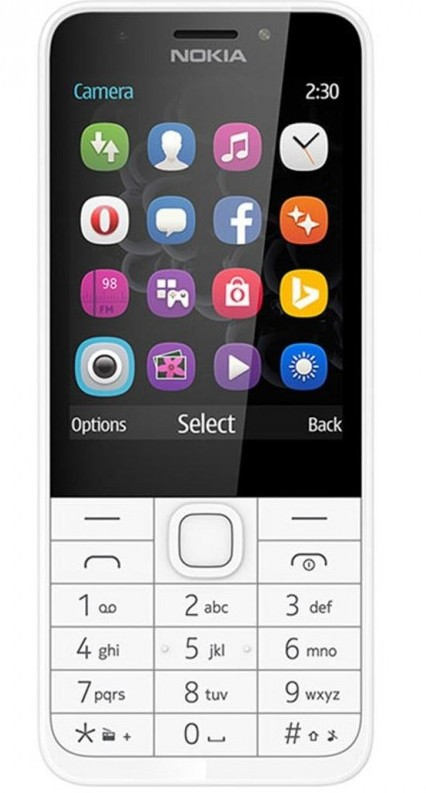 Základní telefon Tlačítkový telefon Nokia 230 Dual SIM, bílá