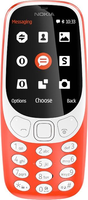 Základní telefon Tlačítkový telefon Nokia 3310 2017, červená