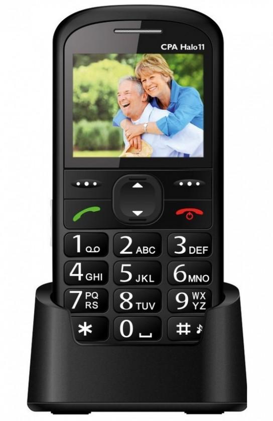 Základní telefon Tlačítkový telefon pro seniory CPA HALO 11, černá