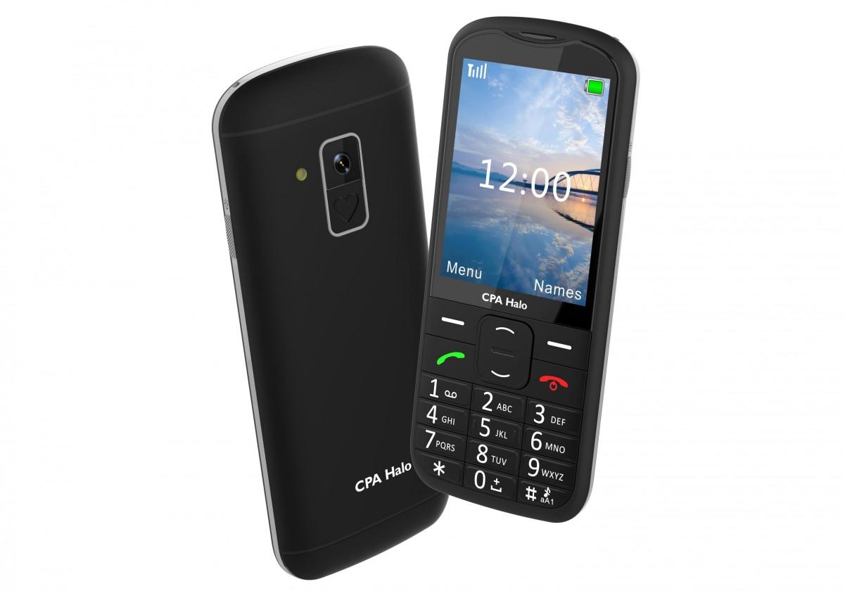 Základní telefon Tlačítkový telefon pro seniory CPA Halo 18, černá