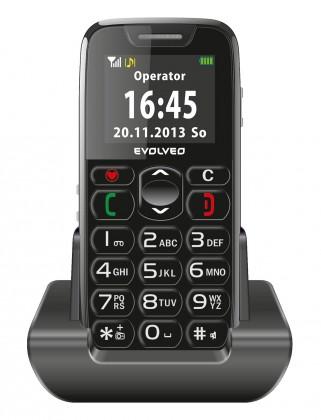 Základní telefon Tlačítkový telefon pro seniory Evolveo EasyPhone EP-500, černá
