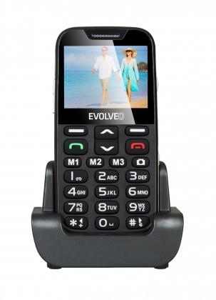 Základní telefon Tlačítkový telefon pro seniory Evolveo EasyPhone XD, černá