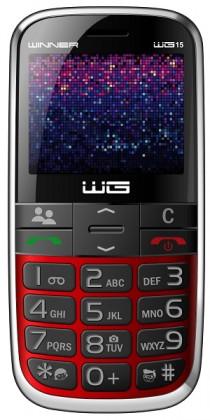 Základní telefon Tlačítkový telefon pro seniory Winner WG15, červená